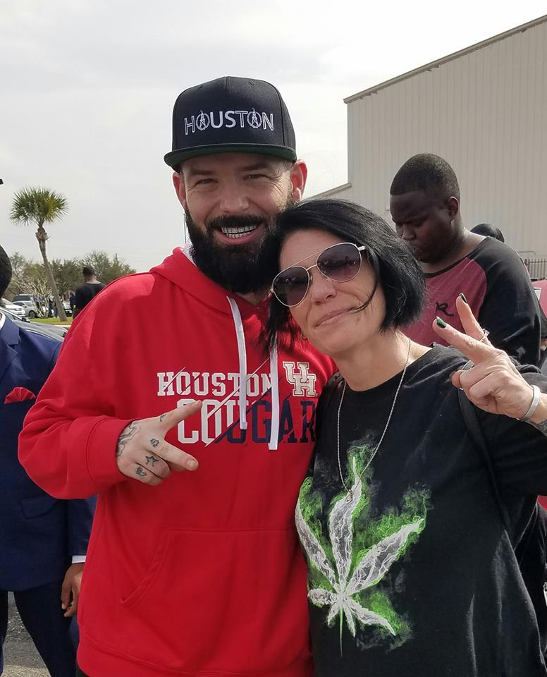 Rena McCain with Houston rapper Paul Wall.